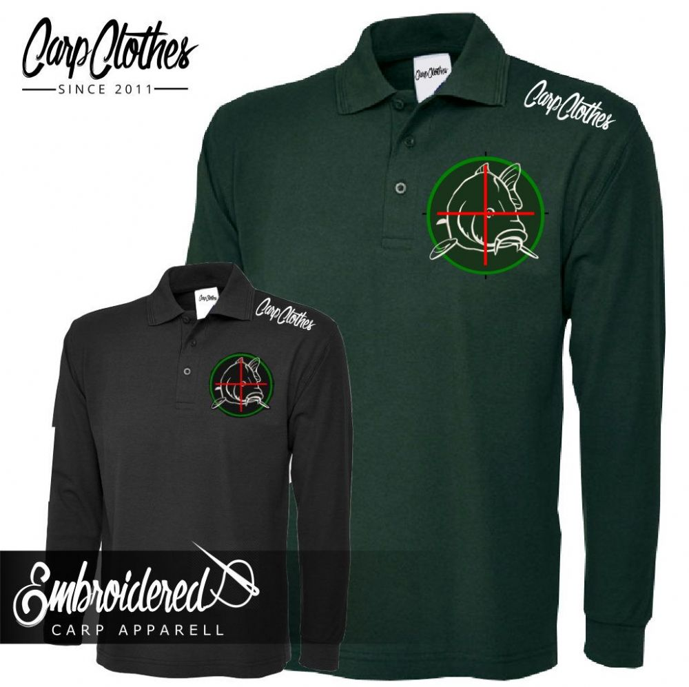 006 EMBROIDERED CARP LS POLO